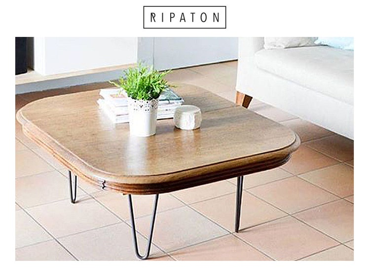 pied de table en pingle 30 cm brut hairpin legs fait par ripaton. Black Bedroom Furniture Sets. Home Design Ideas