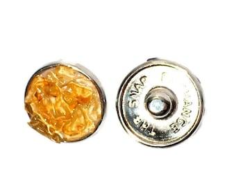 Snap charm Citrine gemstone snap jewelry jewelry interchangeable charm bracelet