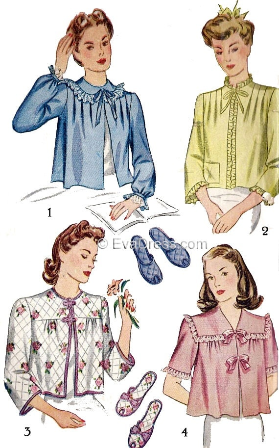 1940s Sewing Patterns - Dresses, Overalls, Lingerie etc