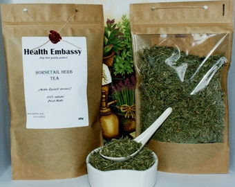 Horsetail Herb Tea (Herba Equiseti Arvensis)  - Health Embassy - Organic