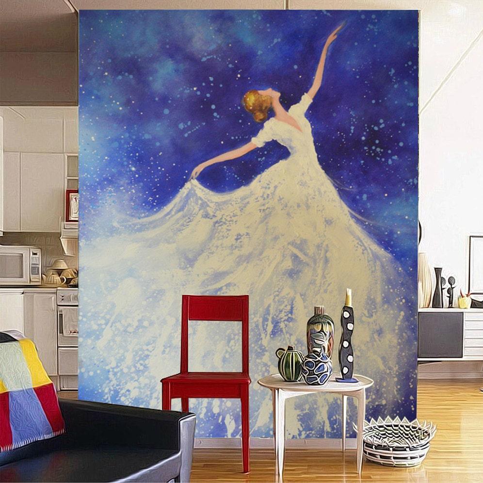 Gro e handbemalte wohnkultur wand kunst bild f r wohnzimmer for Wand kunst wohnzimmer