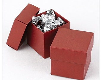 Two Piece Red Favor Boxes (Pack of 25) Wedding Favors Valentines Day Christmas