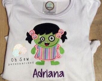 Halloween Shirts For Girls - Girl Halloween Shirt - Zombie Girl Shirt - Zombie Halloween Girl Shirt - Zombie Shirt - Zombie Girl Shirt