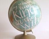 Hand Lettered Vintage Globe