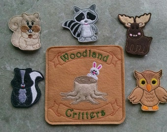 Woodland Animals Finger Puppets and Carrying Case