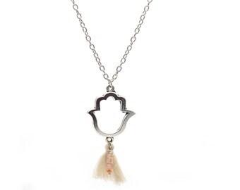 Hand of Fatima pendant necklace