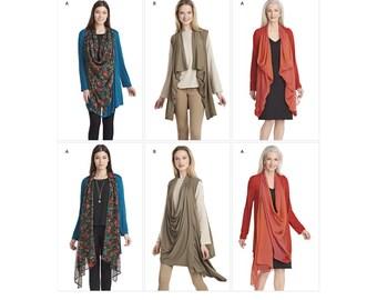 Simplicity Pattern 8171 Misses' Knit Cardigan or Vest
