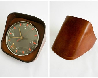 Kienzle Space Age Quartz Clock with Leather Base - Made in Germany