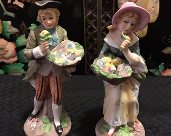 Vintage Norleans Man and Lady Figurine