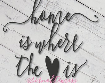 SVG, Home is Where the Heart Is, Home SVG, Cut File, Cutting File, for Cricut, Silhouette, Cameo, Other Cutting Machines, Vinyl, DFX, Png