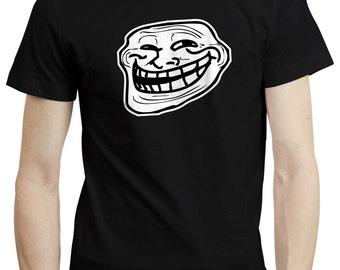 Troll Face Meme Internet Birthday Party Funny Gift T shirt Tshirt Top S-3XL