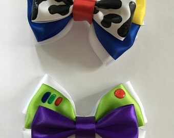 Inspired Toy Story Hair Bows / Woody Bow / Buzz Lightyear Bow
