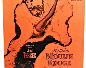 Moulin Rouge Vintage Movie Sheet Music (Where Is Your Heart) 1953