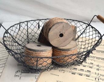 Small Vintage French Wire Basket Fil de Fer