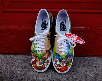 Disney Snow White Seven Dwarfs Custom Hand Painted Shoes for Jessica