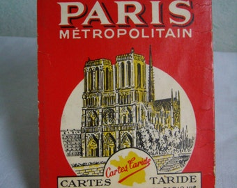 Map of Paris - map Taride - 1959