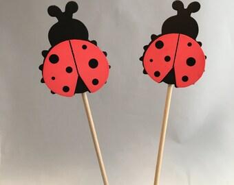 Ladybug Centerpiece - Ladybug Party Decoration