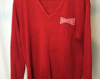 Vintage Budweiser V Neck Sweater