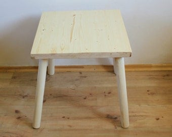 Small Wooden Table - Wood Furniture - Kids' furniture - Small Side Table - Coffee Table - Wood Tables