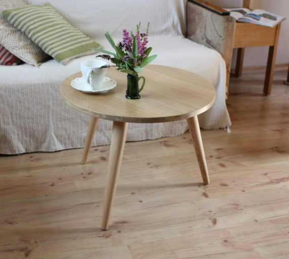 Mid Century Rose Wood Side Table Or Small Coffee Table For: Side Table Mid Century Three Legs Table Small Round Coffee
