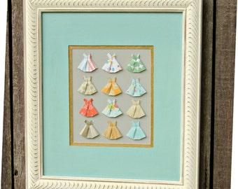 Jack & Jill Origami framed art