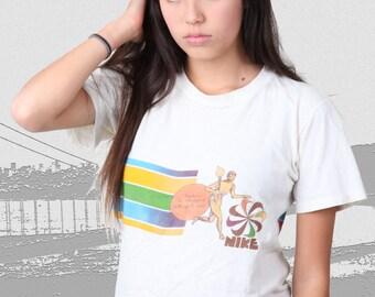 Very Rare Vintage NIKE 1978 t-shirt Honolulu Marathon '78 tee