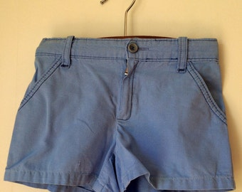 Childrens/vintage/blue/shorts/French/summer/classic/preppy/5 years/adjustable waist/beach/pockets