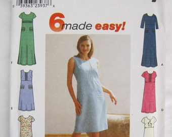 Misses Pullover Dress Sewing Pattern –  Simplicity #9189 – Size HH 6, 8, 10, 12 - UNCUT