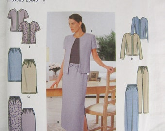 Misses Pants, Skirt and Jacket Sewing Pattern –  Simplicity #9159 – Size NN 10, 12, 14, 16 - UNCUT