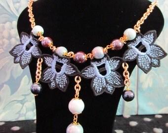 Iris Line Necklace Pendants