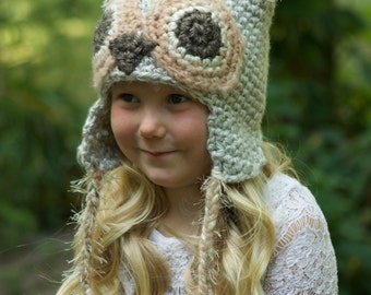 Crochet Pattern - Odilia AND Ollie Owl Hats, PDF Instant Download, Includes Sizes (Newborn, Baby, Toddler, Child, Youth, Adult)