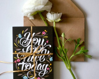 You look nice today -Postcard- with envelope SALE regular price 3,50 euro