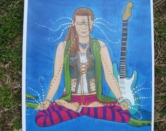 ART PRINT / Sound &Vision / Guitar / David Bowie / Third Eye Meditate / Painting Paper Print