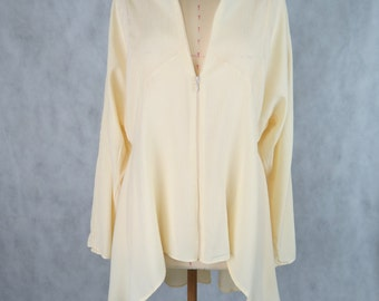 Monumental Cream Long Shirt - S/S 2015/16 - Size 12-14 AUS - one of a kind