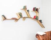 Oak Tree Branch Shelf 2.4m wide by 1.2m high - Unique Bookshelves Idea