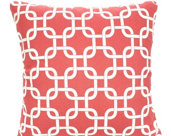 Coral Pillow Covers, Decorative Throw Pillows, Cushions, Throw Pillows for Couch Decorative Pillow, Coral White Gotcha One or More All Sizes