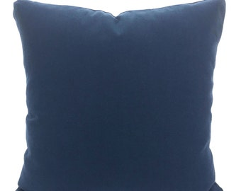 solid navy blue pillow cover decorative throw pillows cushion covers navy blue throw pillow throw