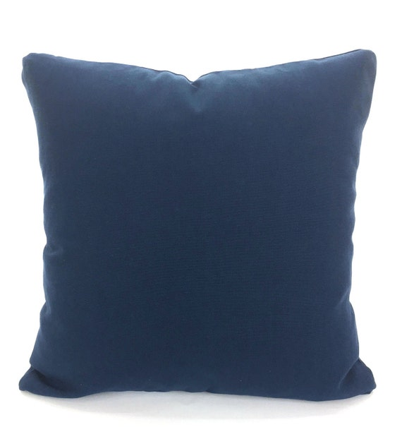 Solid Navy Blue Decorative Pillow : Solid Navy Blue Pillow Cover Decorative Throw Pillows Cushion