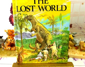 The Lost World Dinosaurs Vintage Ladybird Childrens Classic Book with Glossy Covers First Edition 1981