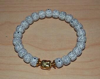 Golden Buddha Bracelet,Barrel Beads Bracelet,Healer,Spiritual bracelet,Man,Woman,Prayer Beaded Bracelet,Meditation,Yoga,Boho,Buddha Bracelet