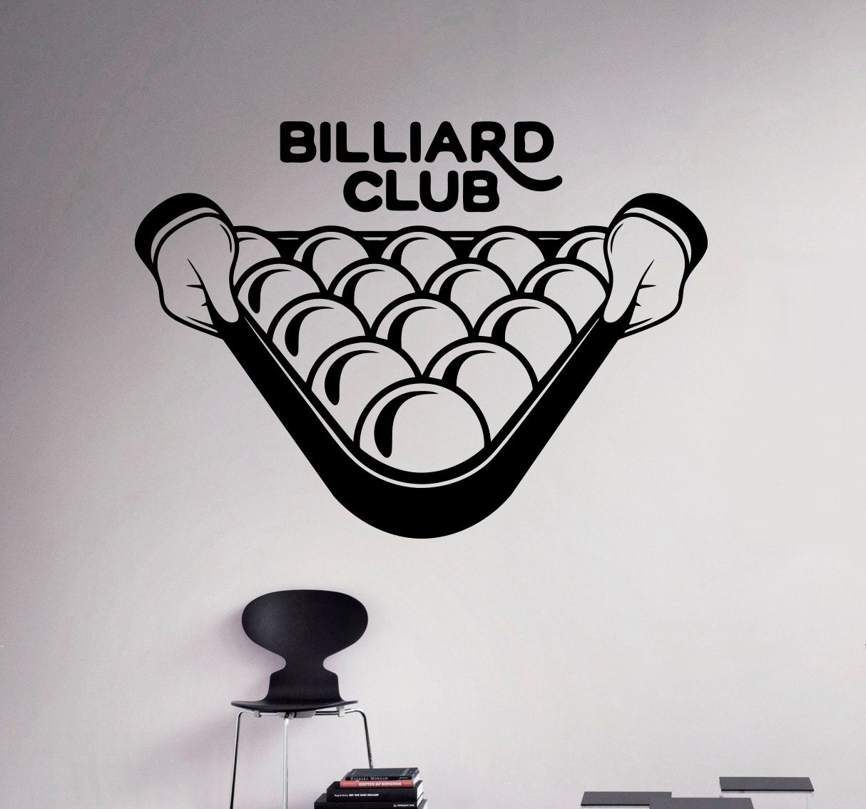 Pool billiard club wall decal poolroom vinyl sticker sport zoom amipublicfo Images
