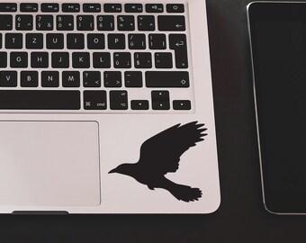 Crow Flying Sticker Crow Bird sticker Crow Decal Car Laptop Vinyl Decal Sticker bird sticker