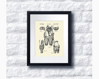 Star Wars Ewok Patent Art Print Star Wars Sci-Fi Movie, Star Wars Home Decor,  Star Wars Kids Room Decor Ideas, Star Wars Print #23