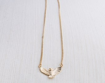 Gold Owl Necklace, Statement Necklace, Owl Necklace, Gift Idea