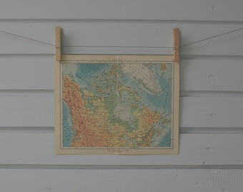 1956 Vintage Map of Canada