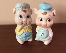 Vintage Pigs Salt & Pepper Shakers