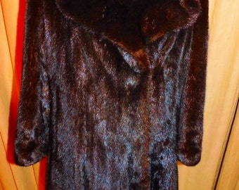 Mink Coat Full Length Espresso Brown