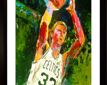 70% SALE - Larry Bird Real-Art LIMITED Edition Paper Print From an Original Hand-Painted (Not DIGITAL/Computer) Artwork By Winford