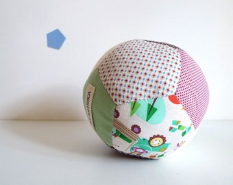 Patchwork Soft Ball Toy - Handsewn Fabric Scraps Ball - Baby Toy - Ball n.3