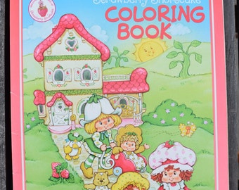 Vintage Rare 1982 Strawberry Shortcake Every Day is Funday Coloring Book Unused